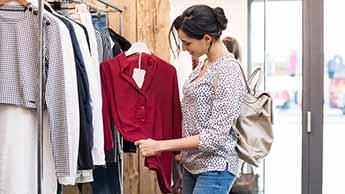 Kupowanie nowych ubrań