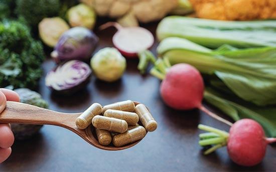 마그네슘 보충제와 채소