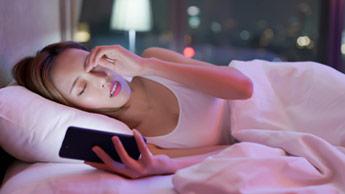 수면에 영향을 미치는 블루라이트