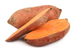 pomarańczowe słodkie ziemniaki