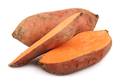 batata-doce de cor alaranjada