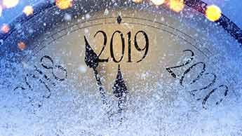 horloge indiquant 2019