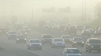 загрязнение воздуха на шоссе