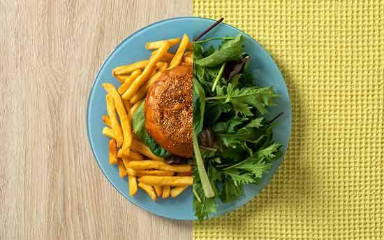패스트푸드와 채소
