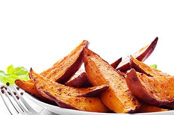 Gotowanie słodkich ziemniaków