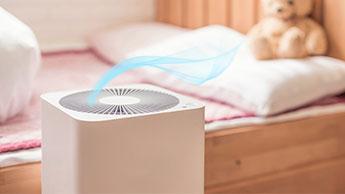purificador de ar no quarto