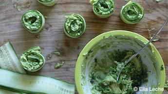 Rolinhos de Pepino Com Abacate