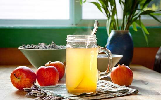 사과식초 꿀 음료