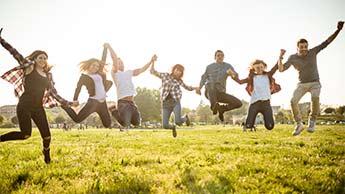 행복한 사람들의 점프