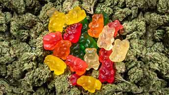 marijuana et les bonbons