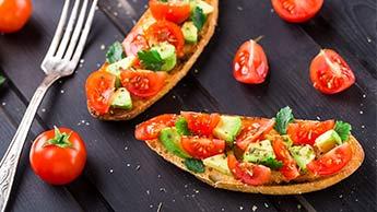 Rezept für Avocado-Bruschetta