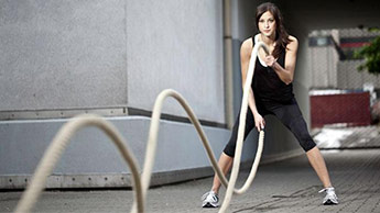 exercices de battle rope