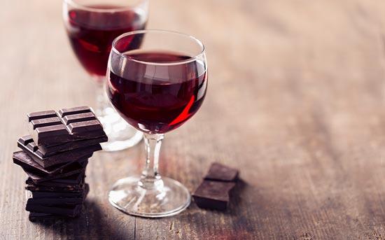 레드와인과 초콜릿