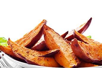 приготовленный сладкий картофель
