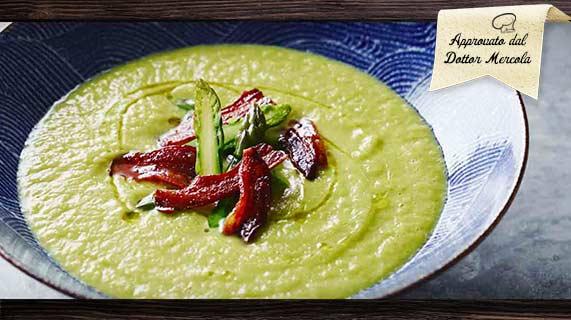 zuppa asparagi e pancetta