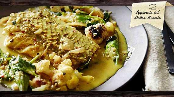 curry di pesce cheto