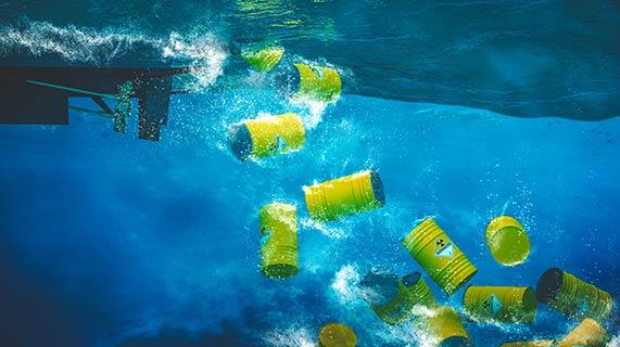 바다에 버려진 DDT