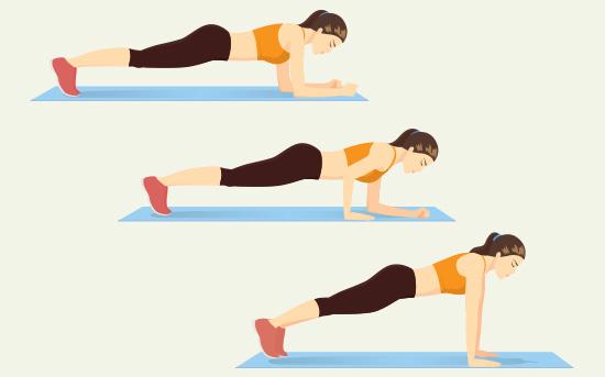 plank a tricipiti