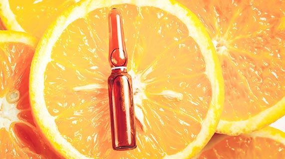 molécule dans oranges