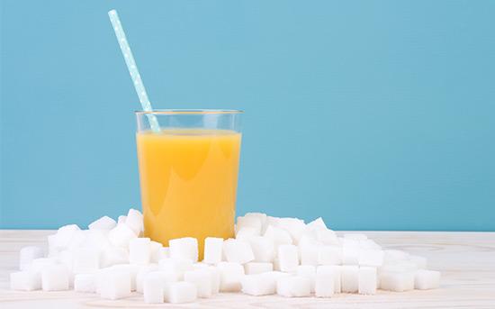 과일 주스 설탕
