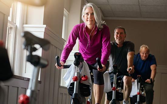 실내자전거 운동