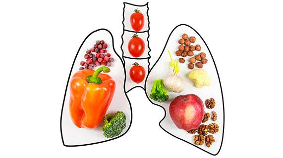 poumons aliments