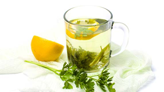 chá de salsinha
