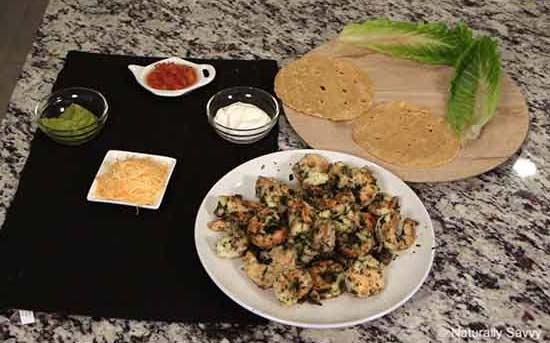 ricetta di tacos di gamberi infusi con coriandolo e aglio 4
