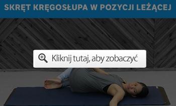 skręt kręgosłupa w pozycji leżącej