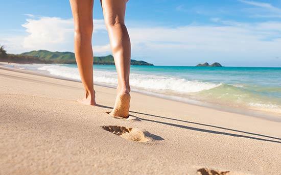 해변 걷기