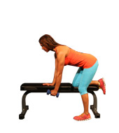 1 armed dumbbell row on bench