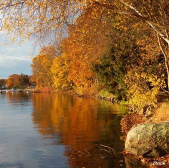 Lago Mohegan en Connecticut