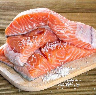Salmone selvaggio dell'Alaska